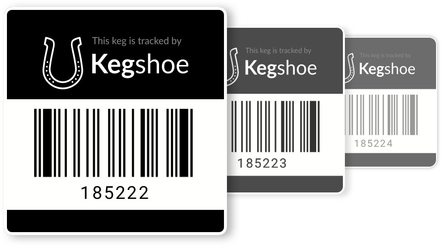 Kegshoe barcode labels